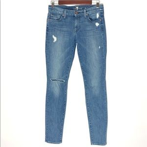 7 for all Mankind The Skinny distressed jeans 27